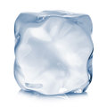 Ice cube close-up  on a white background Royalty Free Stock Photo