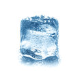 Ice cube isolated on white Stock Images
