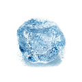 Ice cube isolated on white Stock Photos