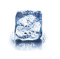 Ice cube isolated on white background closeup Royalty Free Stock Photos