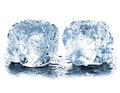 Ice cube isolated on white background closeup Royalty Free Stock Photo