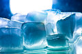 Ice cube refreshment to get cold drink Stock Photography