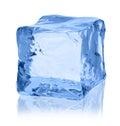 Ice cube on white background Royalty Free Stock Photo
