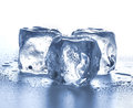 Ice cubes close-up  on a white Royalty Free Stock Photo