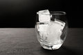 Ice cubes in glass Royalty Free Stock Photo