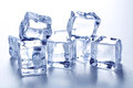 Ice cubes isolated on white Royalty Free Stock Images