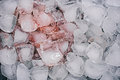 Ice cubes stained red Royalty Free Stock Photo
