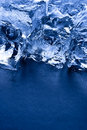 Ice cubes vertical with copy space Royalty Free Stock Photo