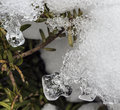 Ice designs in nature during winter Stock Photography