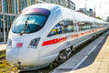 Ice deutsche bahn train in a train station with copy space Royalty Free Stock Image