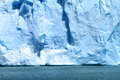 Ice falling off glacier patagonia south america Stock Image