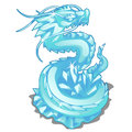 Ice figurine of serpent dragon. Vector animal Royalty Free Stock Photo