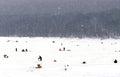 Ice fishing derby harriman reservoir vermont Stock Images