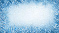 Ice frost frame Royalty Free Stock Photo