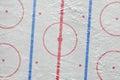 The ice hockey arena