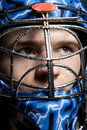 Ice hockey goalie Royalty Free Stock Photo