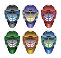 Ice Hockey Goalie Masks Royalty Free Stock Photo