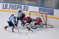 Ice hockey match bobrov vs piter st petersburg russia march during the tournament among children s teams league of the future Royalty Free Stock Photo