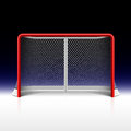 Ice hockey net goal on black illustration Royalty Free Stock Photography