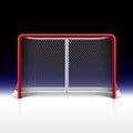 Ice hockey net, goal on black Royalty Free Stock Photo