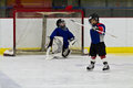 Ice hockey player celebrates after scoring a goal Royalty Free Stock Photo