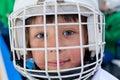 Ice hockey player girl portrait Stock Photo