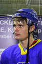 Ice-hockey player Olexiy Ponikarovsky of Ukraine Royalty Free Stock Photo