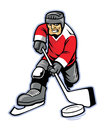 Ice hockey player vector of Royalty Free Stock Photos