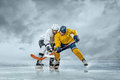 Ice hockey players on the Stock Photo