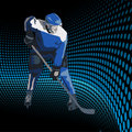 Ice hockey players. Vector illustration Stock Photography