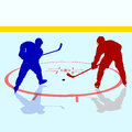Ice hockey players vector illustration Stock Image