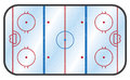Ice Hockey Rink Royalty Free Stock Photo