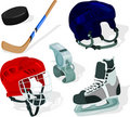 Ice hockey set Stock Photo