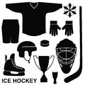 Ice hockey set isolated objects on white background vector illustration eps Royalty Free Stock Photos