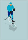 Ice hockey sport background poster or flyer with space Stock Image