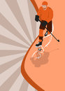 Ice hockey sport background poster or flyer with space Stock Photography