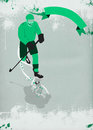 Ice hockey sport background poster or flyer with space Royalty Free Stock Photo