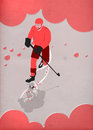 Ice hockey sport background poster or flyer with space Stock Photo