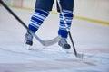 Ice hockey sport players Royalty Free Stock Photo