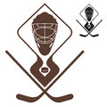 Ice hockey vintage isolated objects on white background vector illustration eps Royalty Free Stock Images