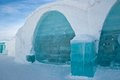 Ice hotel in sweden Royalty Free Stock Images