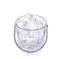 Ice and Ice Bucket IV Royalty Free Stock Photo
