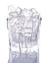 Ice and Ice Bucket V Royalty Free Stock Photo
