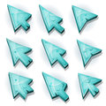 Ice Icons, Cursor And Arrows Royalty Free Stock Photo