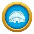 Ice igloo icon blue vector isolated Royalty Free Stock Photo