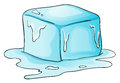 Ice illustration of a block of Royalty Free Stock Photography