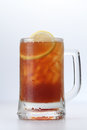Ice lemon tea a glass of cold Royalty Free Stock Photography