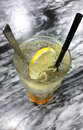 Ice lemon tea from top view Royalty Free Stock Images