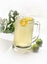 Ice lime juice Royalty Free Stock Photo