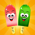 Ice lolly cartoon illustration of Stock Photography